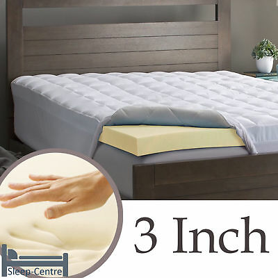 Lavish 100% Memory Foam Mattress Topper Orthopedic, Hypoallergenic + All Sizes 4