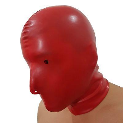 Latex-Maske aus Gummi in rot, Einheitsgröße 4