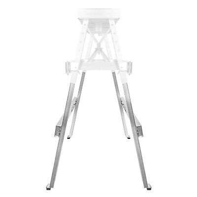 "Drywall Bench Sawhorse Step Ladder - Adjustable Height Workbench 18""-44"" 4"