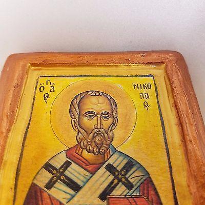 Saint Nicholas Nikolaos Agios Nikolas Rare Byzantine Greek Orthodox Icon Art 5