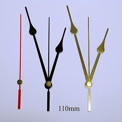 Replacement press fit clock hands for quartz clock movement (5.5mm/3.6mm shaft)
