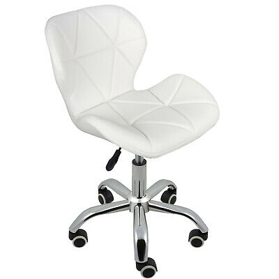 Cushioned Computer Desk Office Chair Chrome Legs Lift Swivel Small Adjustable 2