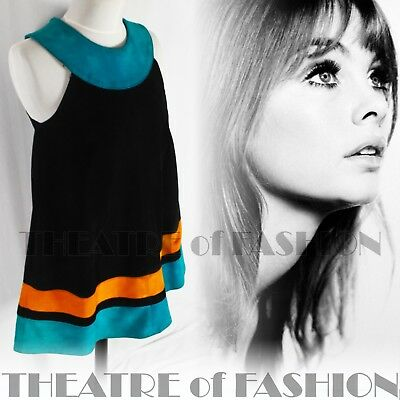 DRESS 60s SUEDE LEATHER VINTAGE OUTSTANDING ART ICONIC RARE LIKE COURRÈGES GOGO 6