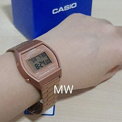 New Casio Vintage Rose Gold Digital Stainless Steel Watch B640WC-5ADF B640WC-5A 6