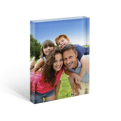 Personalised Acrylic Photo Block Frame. Collages, Awards, Art, Baby Scan Gift 6