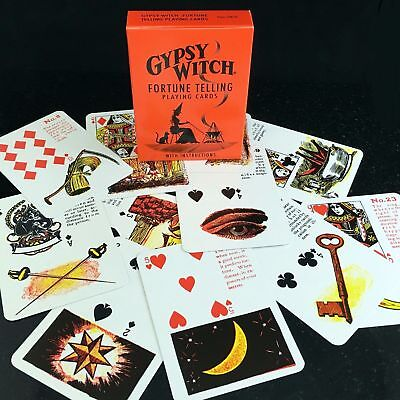 Gypsy Witch Tarot Deck Playing Cards Us Games Systems With Velvet Bag New 5
