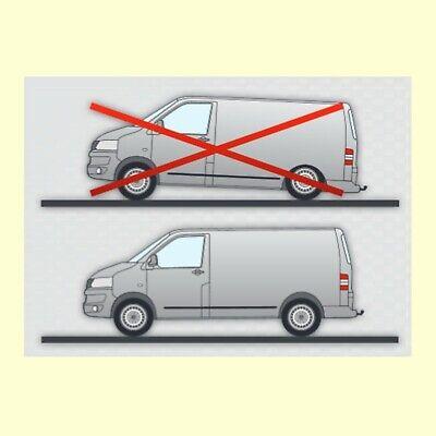 mad Verstärkungsfedern Zusatzfedern Federn hinten VW T2 T4 Bus Kasten Pritsche