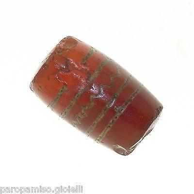 Buddhist Chung gZi Stone  Bead, China Tibet  涌越秀石珠  (0384) 2