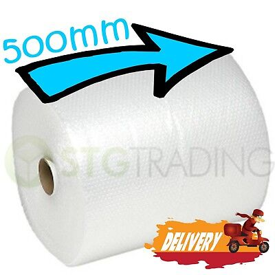 1 SMALL BUBBLE WRAP ROLL 500mm WIDE x 75 METRES LONG PACKAGING CUSHIONING - NEW 5