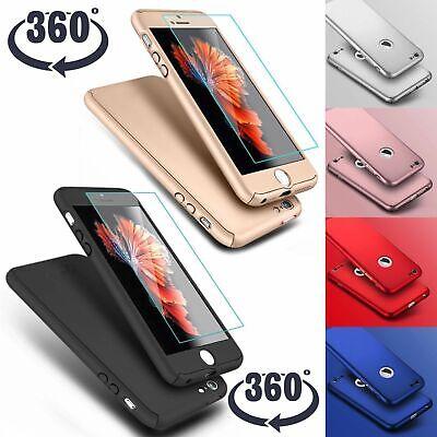 Coque 360 pour iPhone XS Max XR 6s 7 8 Plus 5 5S SE Protection Antichoc + Verre 10