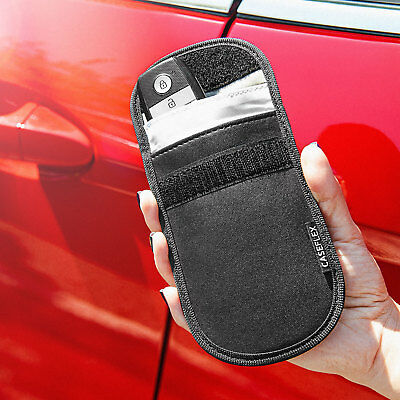 2 x Car Key Signal Blocker Case Faraday Cage Fob Pouch Keyless RFID Blocking Bag 5