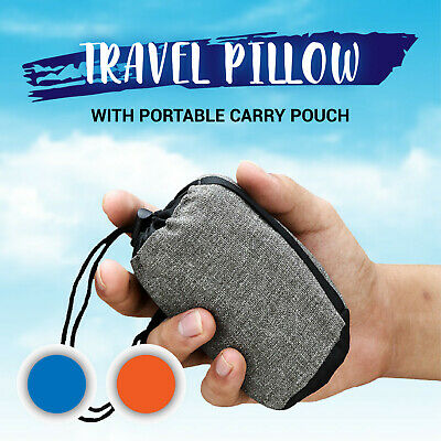 Air Pillow Inflatable Cushion Portable Head Rest Compact Travel Camping w/ Pouch 5
