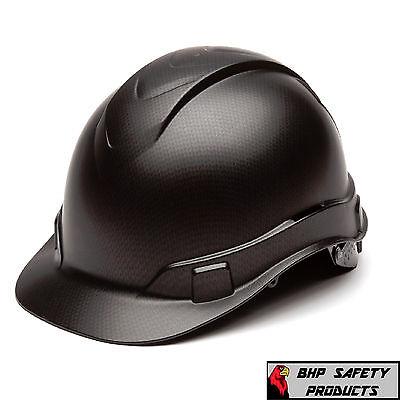 Pyramex Ridgeline Hard Hat Graphite Pattern Black Ratchet Suspension, Hp44117