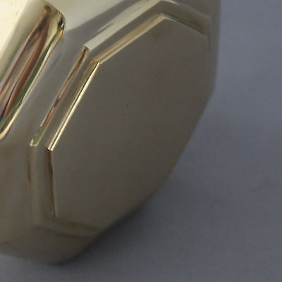 Large Georgian Style Brass Octagonal Door Pull 4