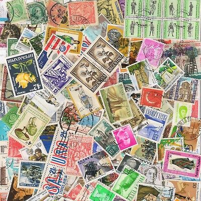 1000s ALL DIFFERENT OLD WORLD Stamps Collection Off Paper in Lot Packs of 150+ 3