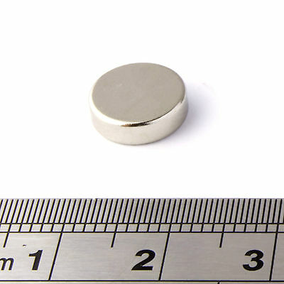 Strong Neodymium Magnets (10mm Dia x 3mm) * Pull force 1.75Kg * Powerful Disc