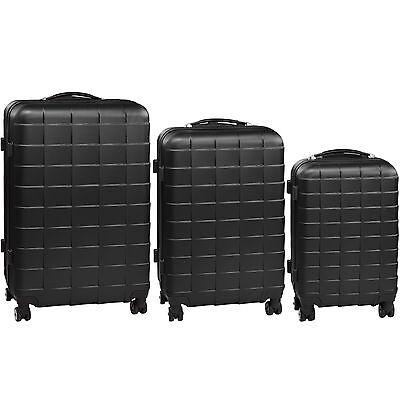 Set 3 piezas maletas ABS juego de maletas de viaje trolley maleta dura negro 7