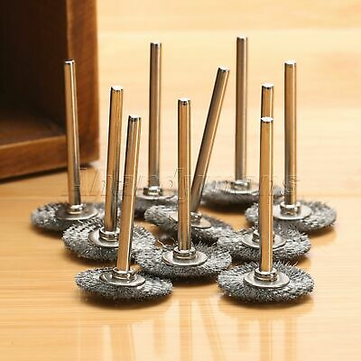 10Pcs Stainless Steel Wire Wheel Brushes Die Grinder Power Rotary Tool Wholesale 4