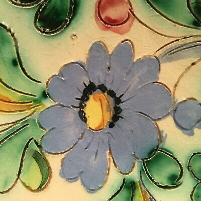 Stunning Antique / Vintage Hand Crafted & Painted Italian Centerpiece Dish 25 cm 6