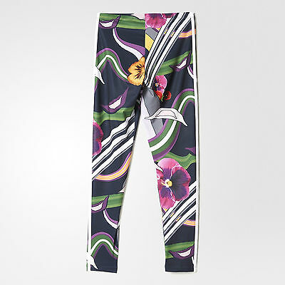 b62fcc7ecdb 2 von 12 Adidas Originals W Floral Burst Leggings Size UK 8, 10, 12 New (555
