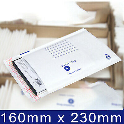 Bubble Padded White Mailer Envelope Bag 100x180 160x230 215x280 Printed #01 #02 4