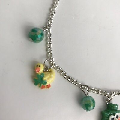 Girls Fashion Jewelry St Patricks Day Charm Bracelet and Necklace Set Claire/'s