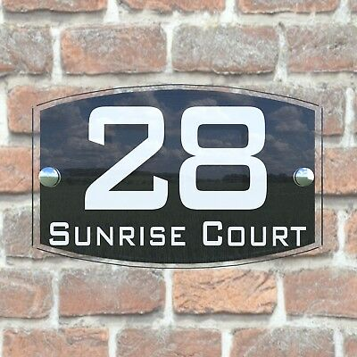 House Sign Plaques Door Number 1 - 999 Personalised Name Plate EMA5-10W 4