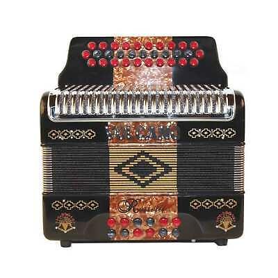Rossetti Huracan 3112 31 Buttons 12 Bass Accordion GCF Grey//Blue//Black