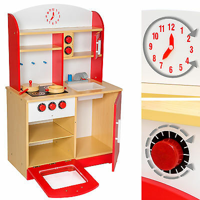 kinderk che aus holz kinderspielk che spielk che spielzeugk che kinder k che rot eur 76 49. Black Bedroom Furniture Sets. Home Design Ideas
