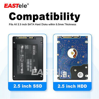 USB3.0 2TB External Hard Drives Portable Desktop Mobile Hard Disk Case EASTele 3