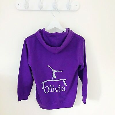 Girls Personalised Hoodie for Dance, Ballet, Tap, Activity Hoodie for Girls 11