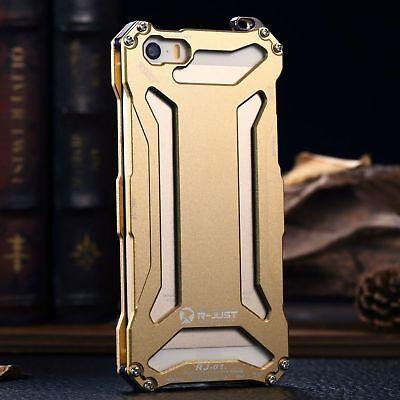 For iPhone 5s SE 6s 7 Plus Luxury Shockproof Aluminum Metal Slim Hard Cover Case 12