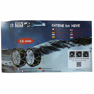 CATENE DA NEVE 4x4 SUV 16MM 225//60 R17 JEEP RENEGADE 01//2014-/>
