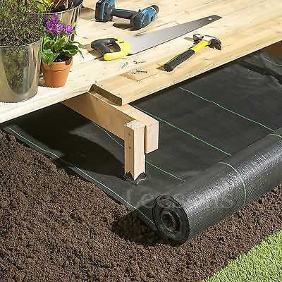3m wide 100gsm weed control fabric ground cover membrane landscape mulch garden 6