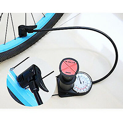 ... Mini-Bomba Inflador De Pie Con Manometro Balones Ruedas Motocicleta  Bicicleta 7 b611fdcc5fe