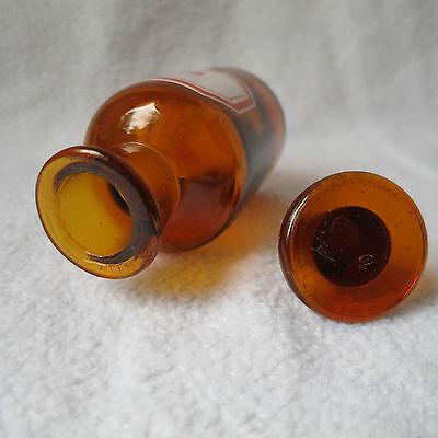 alte Apothekerflasche Braunglas mit Schliff-Stopfen Ol. Sinapis Separanda Senföl 5