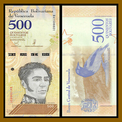 Venezuela 2 5 10 20 50 100 200 500 Bolivares Soberanos (8 Pcs Full Set) 2018 New 10