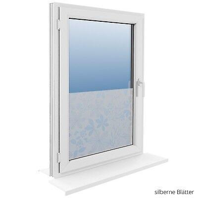 90 cm Fensterfolie Statische Sichtschutzfolie Milchglasfolie Glasdekorfolie 7