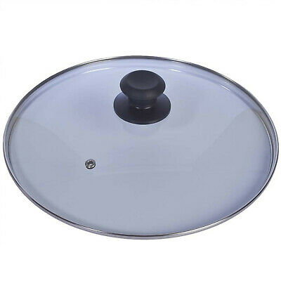 New Replacement Vented Frying Fry Pan Saucepan Casserole Glass Lid Cover 28Cm 2