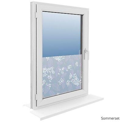 90 cm Fensterfolie Statische Sichtschutzfolie Milchglasfolie Glasdekorfolie 5