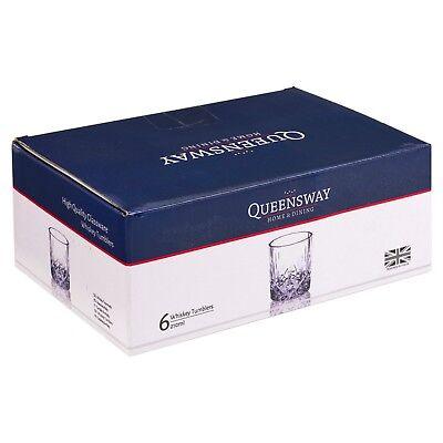 6 PCS Whiskey Tumblers Drinking Glasses Gift Boxed Set Wedding Present Xmas NEW 7