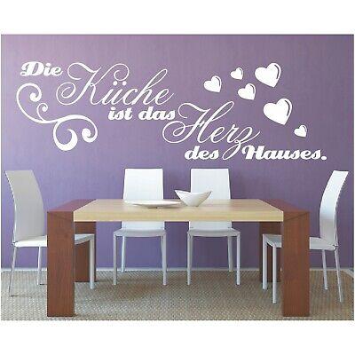 Dekoration Wandtattoo Spruch Kuche Herz Des Hauses Wandsticker Wandaufkleber Sticker 2 Mobel Wohnen Blog Vr Com Br