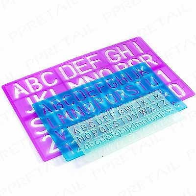 3pc Small Large Stencil Set Alphabet Lettersnumberssymbols Fun