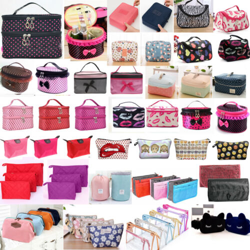 Women Cosmetic Make Up Travel Toiletry Bag Pouch Organizer Handbag Case Storage 2