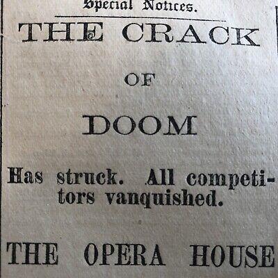 10 RARE 1883 SPRINGFIELD MASSACHUSETTS newspapers w LOCAL ADVERTISING & News 2
