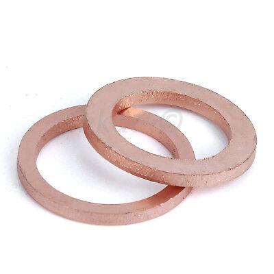 Kupferscheiben Unterlegscheiben Kupfer DIN 9021 M5,6,8,10,12,14,16,18,20,24~48