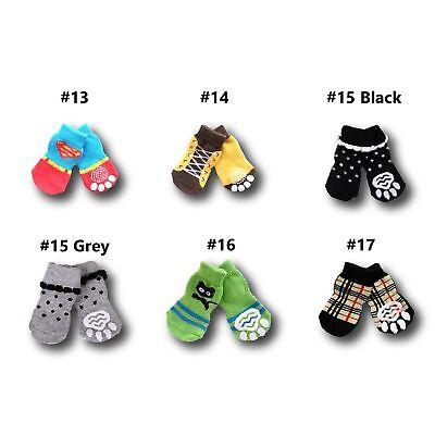 Dog Socks Non-Slip Grip Slip Anti-Skid S M L XL - Puppy Cat Pet Shoes Slippers 9