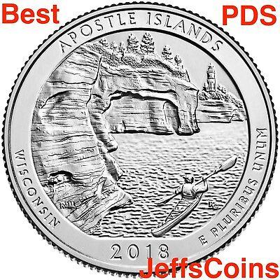 2018 PDSSS Apostle Islands Park WI +Clad&Silver Proof Quarter P D S S S ATB Best 4