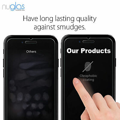 For iPhone 8 Premium NUGLAS Tempered Glass Screen Protector Superior Protection 6