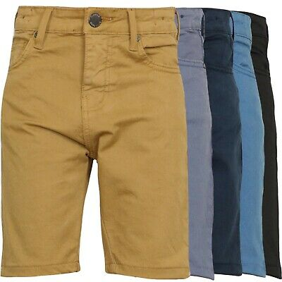 Kids Stretch Chinos Jeans Boys Shorts Denim Skinny School Pant Trousers Age 9-15 2